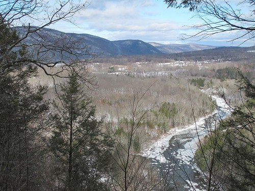 Looking north up the Housatonic River to Kent
