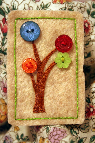 Button Tree Brooch