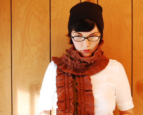 The Victorian scarf.