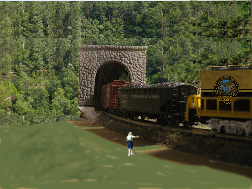 Photoshopped vision of completed tunnel.