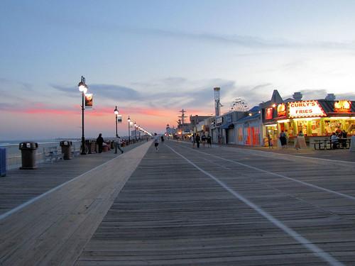 Boardwalk at sunset