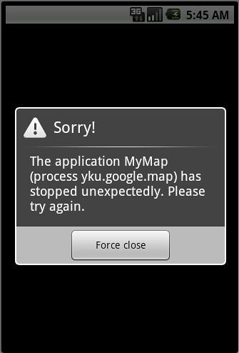 Google Map run Error