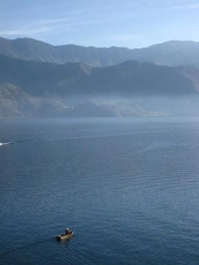 Boat on Lake Atitlan