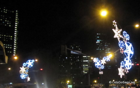Christmas Parols along Ayala Ave.