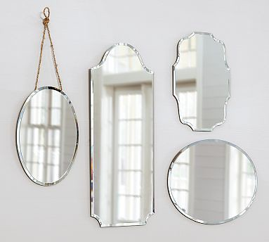eleanor frameless mirrors Pottery Barn