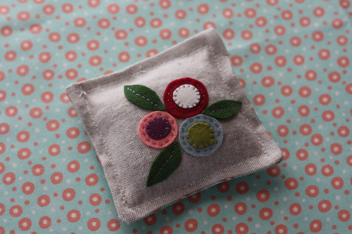Embroidered sachet