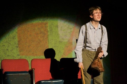 "Thomas McPhee as Arnold in the MAHS 2010 production of ""The boys next door"" as a one-act"