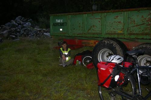 Vill-camping på anleggsområde
