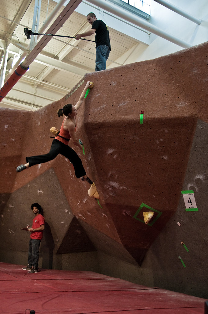 Bonnie almost sticking the last hold on problem #4.