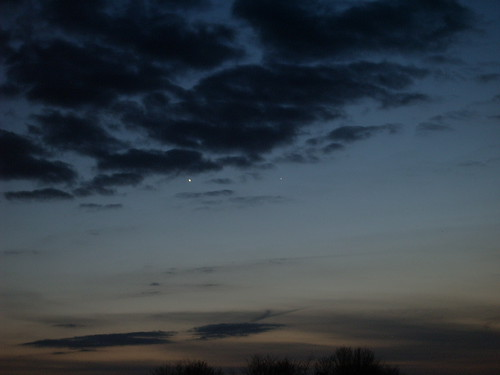 Conjunction of Venus and Mercury