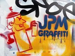 JPM Graffiti. Rue des Pyrénées, Paris, France.