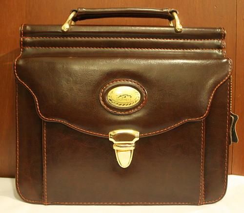 Vintage Handbag Brown Leather Apotheke