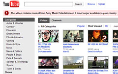 Youtube: Video blocked