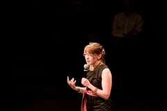 Zoe Todd at Pecha Kucha Night 7, June 3, 2010, at The Citadel, Maclab Theatre, courtesy edmontonnextgen