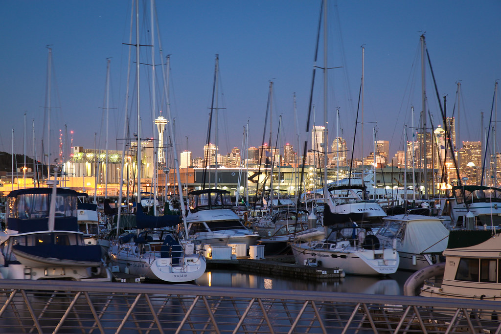 Seattle through Elliott Bay Marina