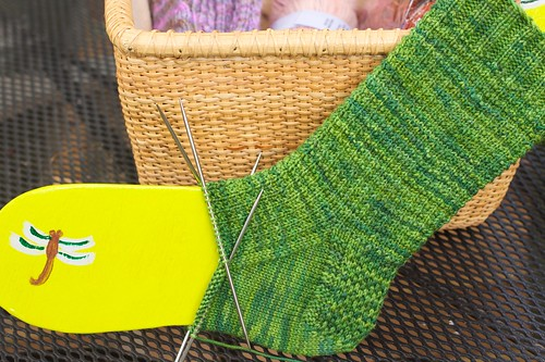 Ringwood Forest Sock: WIP