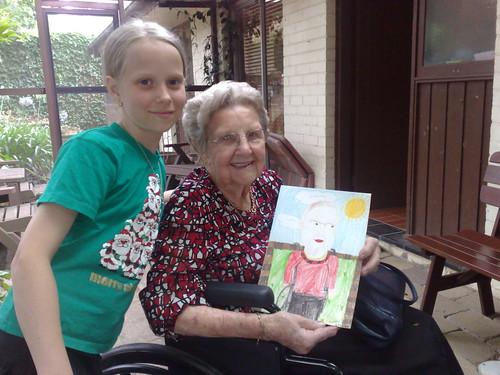 Caitlin and Great Grandma