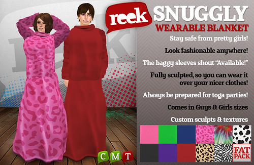 Reek - Snuggly Wearable Blanket