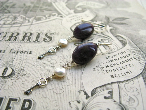 Keys of calm earrings