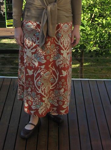 A-line skirt detail