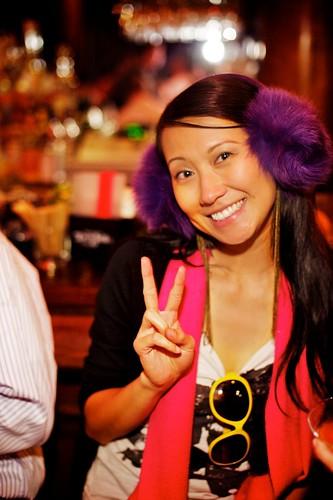 Purple ear muffs