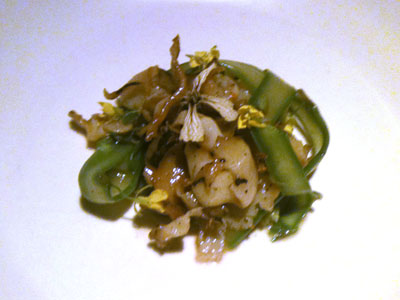 Abalone/Asparagus (Raw and Cooked)