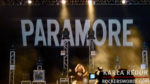 Stage setup of Paramore Concert in Manila