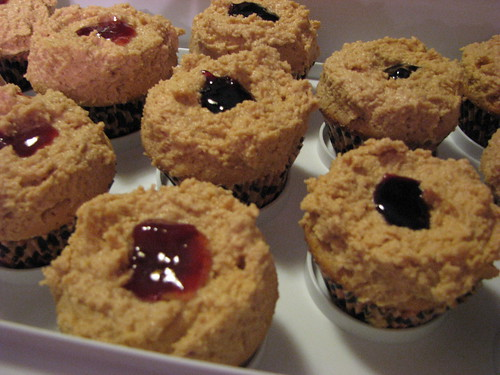 Peanut Butter & Jelly Cupcakes!