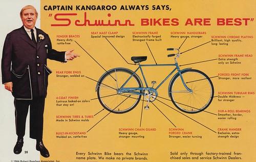 Captain Kangaroo Always Says Schwinn Bikes Are Best