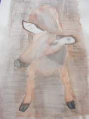 Skye's watercolour pencil drawing - Key Deer