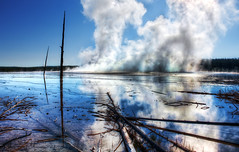Prismatic Steam in Yellowstone