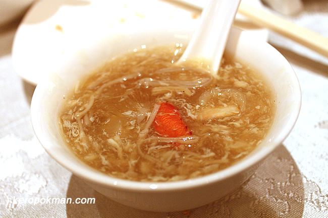 Braised Shark's Fin with Crab Meat & Golden Mushroom