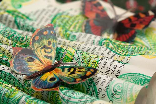 altered book the butterfly garden detail - Butterfly Garden Book