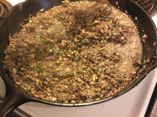 Cremini mushroom filling