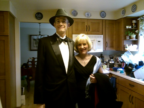 Deb and I going to the symphony
