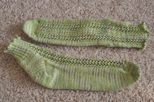 Summer Limeade socks.