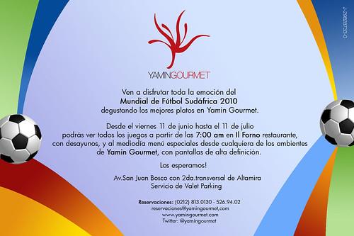 Invitaci?n Mundial en Yamin Gourmet