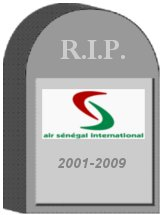 Air Senegal Tombstone