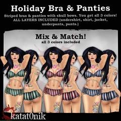 Katat0nik - Holiday Bra & Panties Set