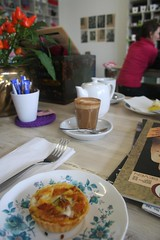 mini egg and sweet potato tart