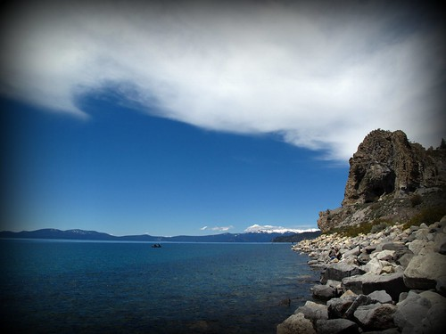 Cave Rock and Lake Tahoe