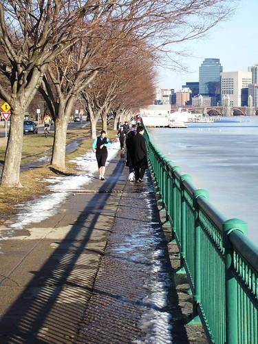 Cambridge, MA: Walking along the Charles River