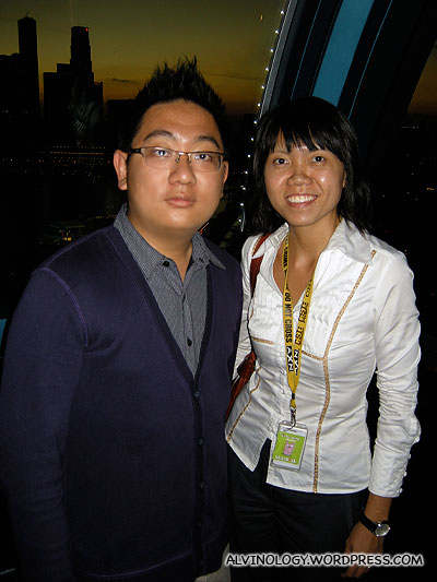 Me with Joleen, the friendly Flyer marketeer who hosted us
