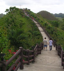 Long walk to the Viewing Deck at Sagbayan Peak