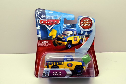 disney cars lenticular dexter hoover with green flag (1)