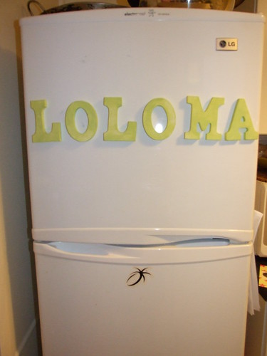 LOLOMA fridge - DIY words by Dulcie Stewart