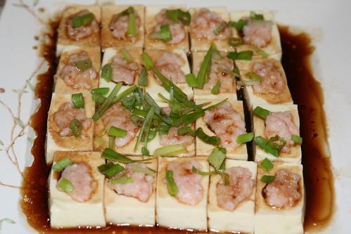 百花蒸釀豆腐
