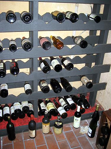 Estate sale wine cellar