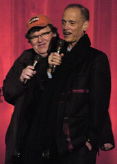 Michael Moore & John Waters at the Traverse City Comedy Arts Festival