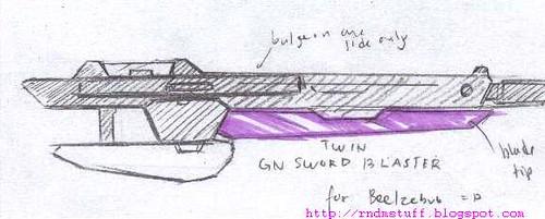 GN Sword Blaster for Beelzebub